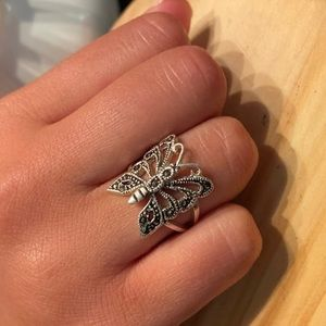 Sterling Silver Butterfly Ring Size 6.5